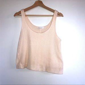 Tops - Beige knitted tank